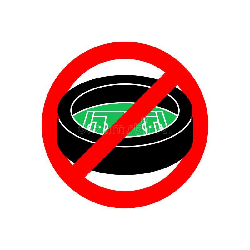 Eindestadion Rode verbiedende verkeersteken Verbodssporten de bouw Ve vector illustratie