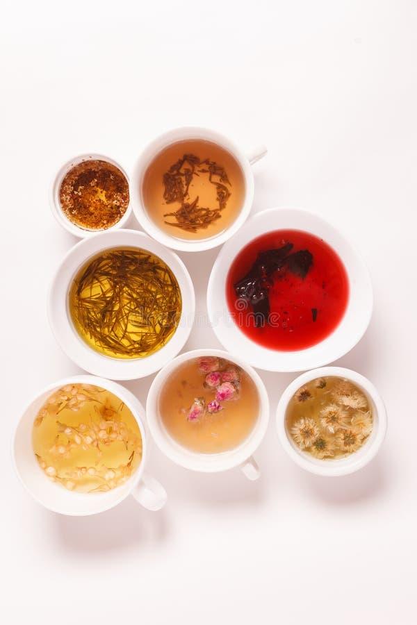 Eindeutige Arten des Tees stockbilder