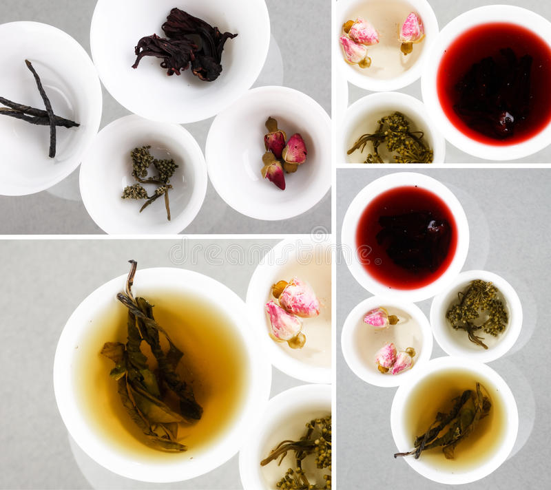 Eindeutige Arten des Tees stockfoto