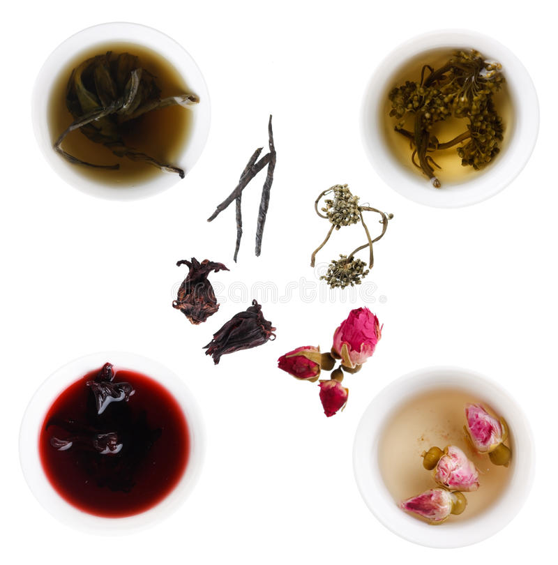 Eindeutige Arten des Tees lizenzfreie stockfotografie