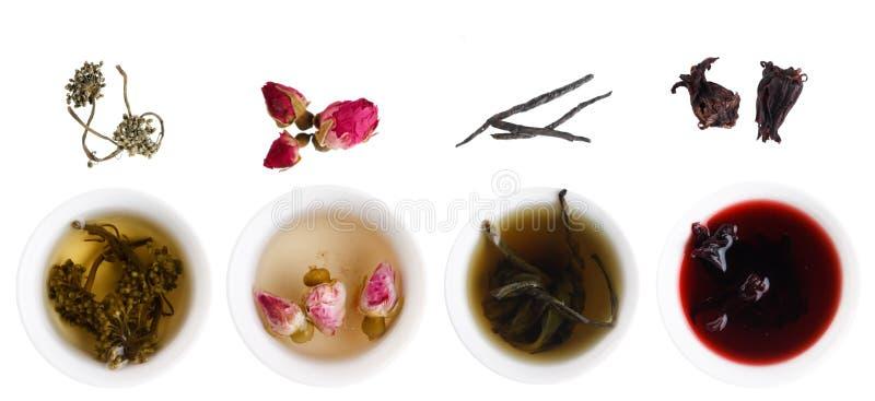 Eindeutige Arten des Tees stockbild
