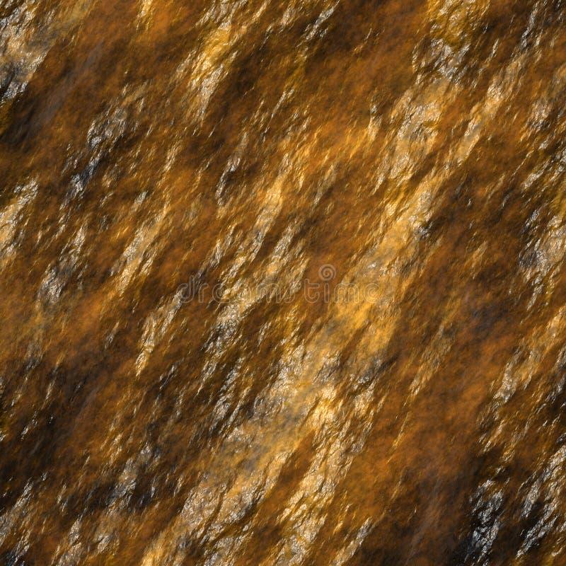 Eindeutige Beschaffenheit des nassen Steins stock abbildung