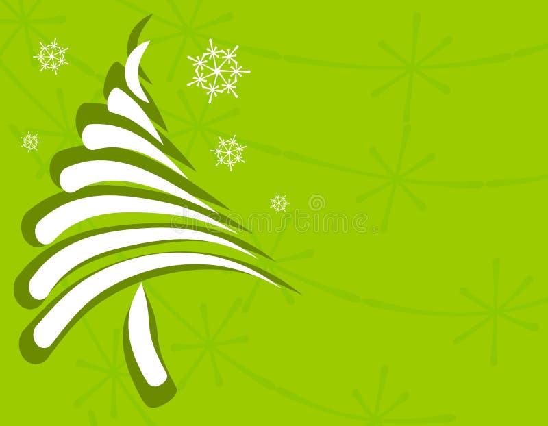 Eindeutige Weihnachtsbaum-Karte 2 stock abbildung