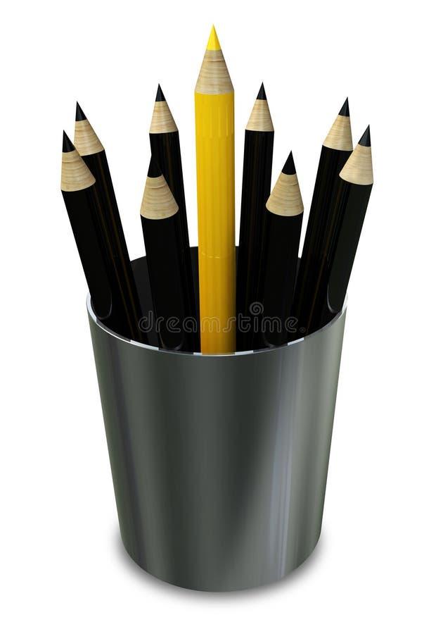 Eindeutiger Bleistift vektor abbildung