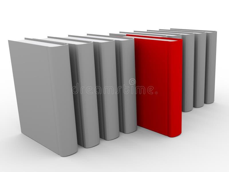 eindeutiges Buch 3d lizenzfreie abbildung