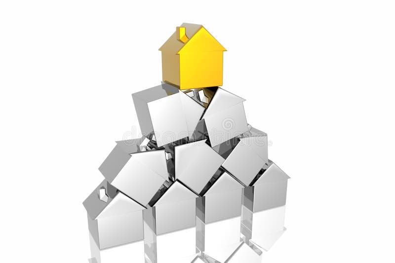 Eindeutiges goldenes Haus vektor abbildung