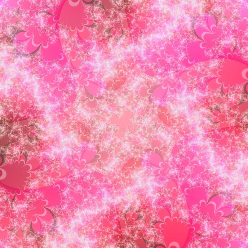 Eindeutiges rosafarbenes abstraktes Hintergrund-Muster stock abbildung