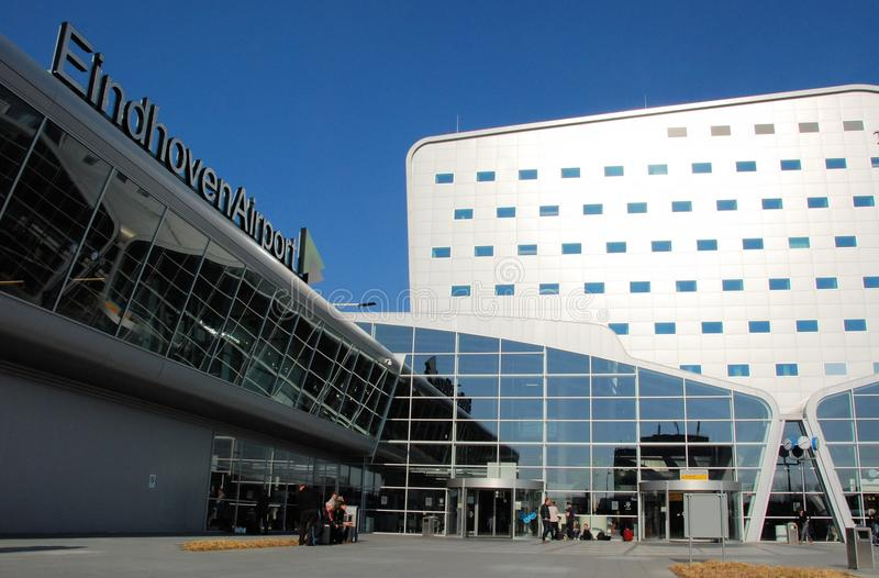 Eindhoven Airport arrival and departure hall. Netherlands North Brabant royalty free stock photography