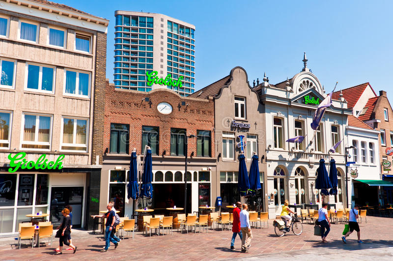 Eindhoven City Center on a beautiful summer day stock photography