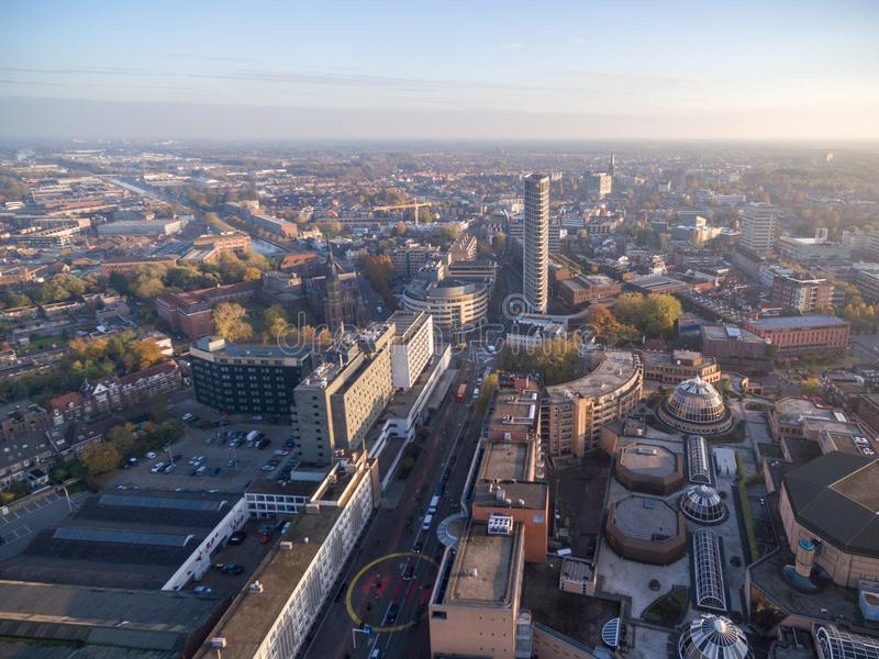EINDHOVEN, Cityscape van NEDERLAND - van Eindhoven, Nederland stock afbeeldingen