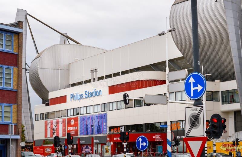 Eindhoven, os Países Baixos - 15 09 2015: Vista em Philips Sta imagem de stock royalty free