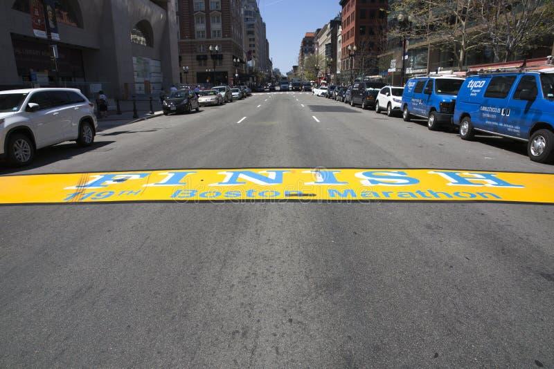 Eindlijn van de Marathon van Boston royalty-vrije stock afbeeldingen