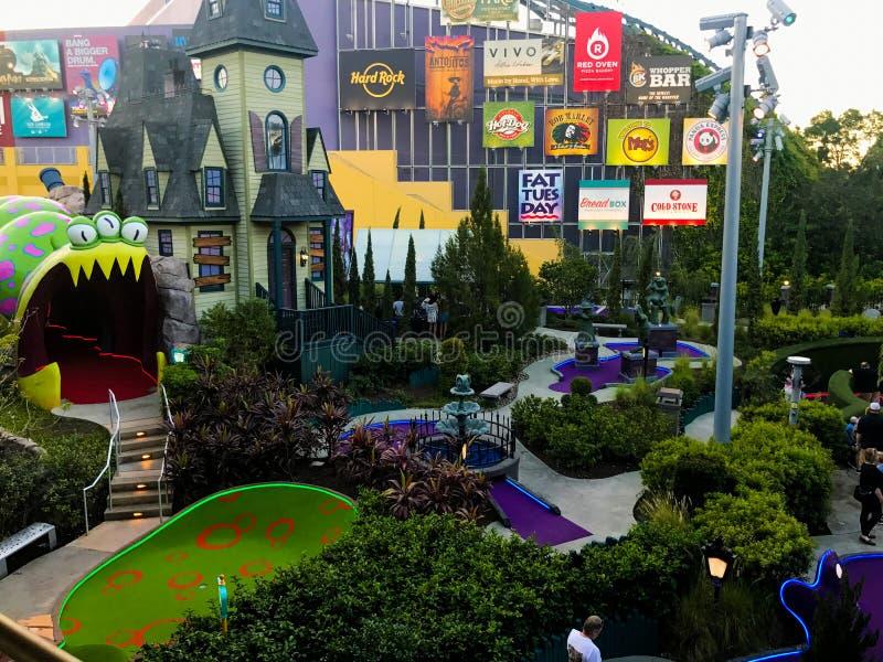 Eindringlinge vom Planeten-Schlag bei Universal-Citywalk in Orlando, FL stockbilder