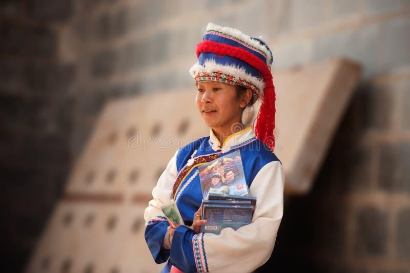 Eindruck Lijiang ist traditioneller Tanz in China. lizenzfreies stockfoto