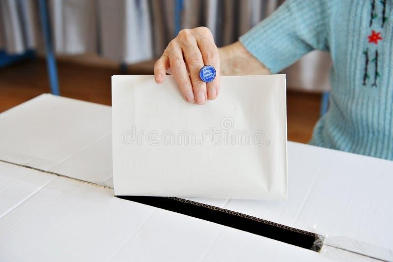 Eine Abstimmung lizenzfreie stockfotografie