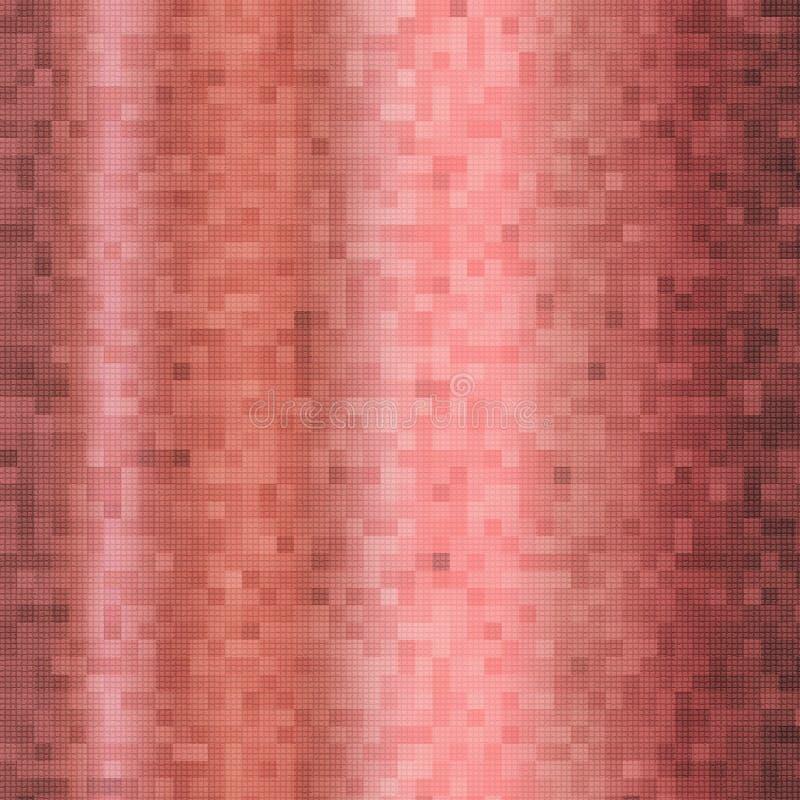 Eine abstrakte Illustration eines Rosengoldmosaikhintergrundes lizenzfreie abbildung