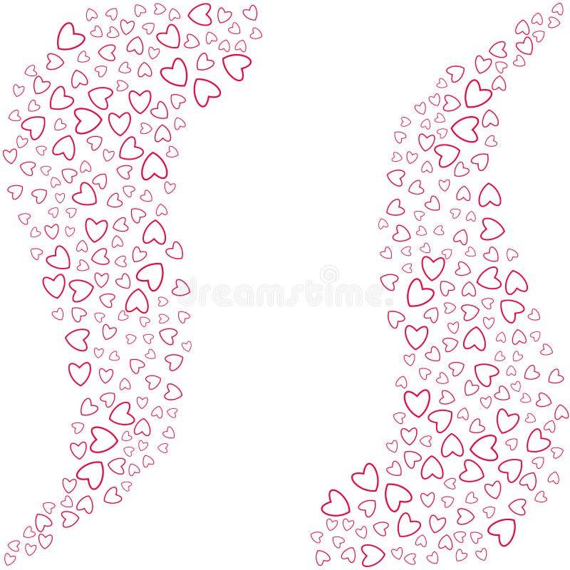 Eine abstrakte Liebe des kleinen Herzrahmens auf einem weißen Hintergrund Für Postkarte Einladung, Plakat für Geburtstag, Valenti vektor abbildung