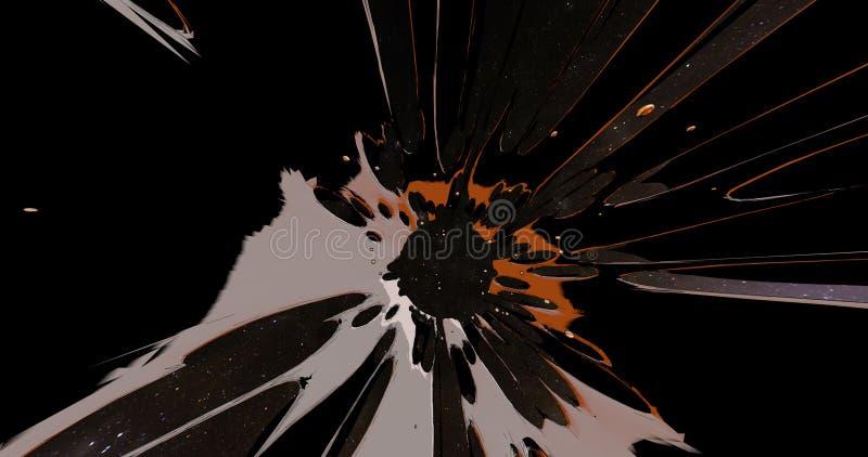 Eine abstrakte Szene einer bunten Explosion lizenzfreies stockfoto