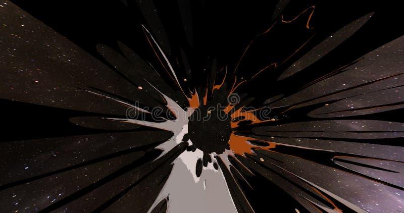 Eine abstrakte Szene einer bunten Explosion stockfotos