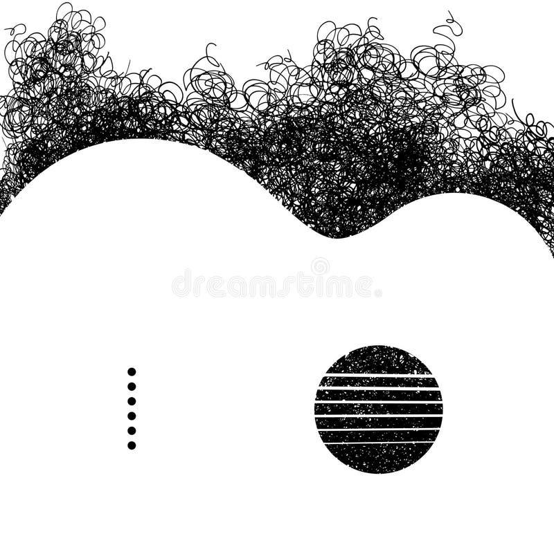 Eine Akustikgitarre hergestellt von den Gekritzeln stock abbildung