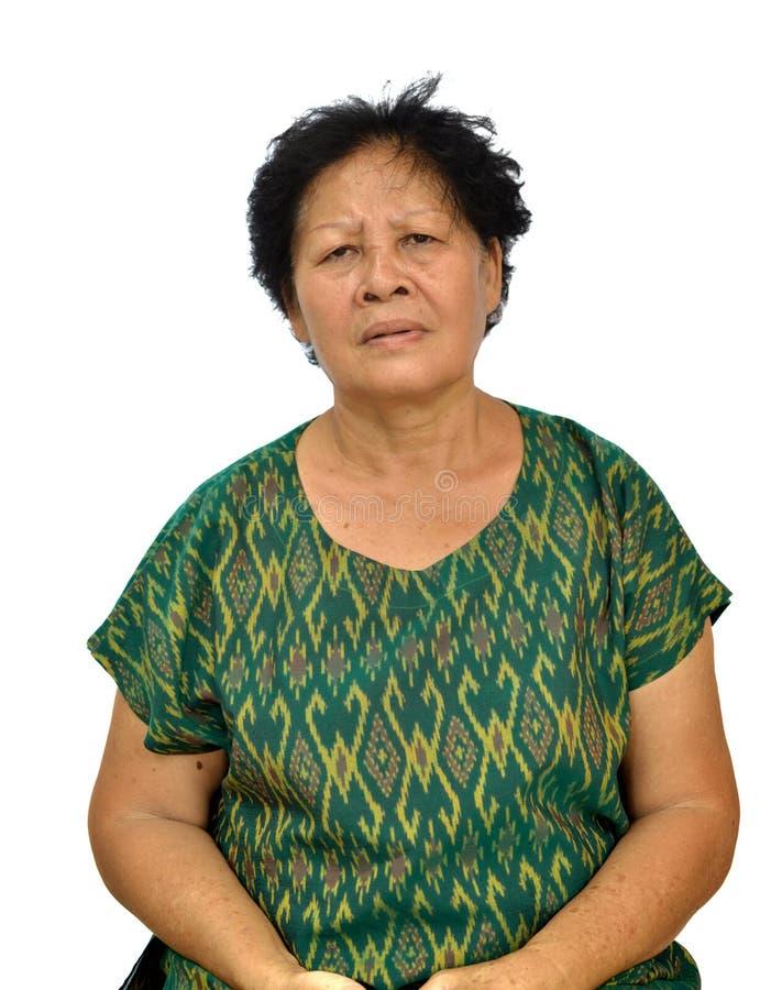 Eine alte asiatische Frau lizenzfreie stockbilder