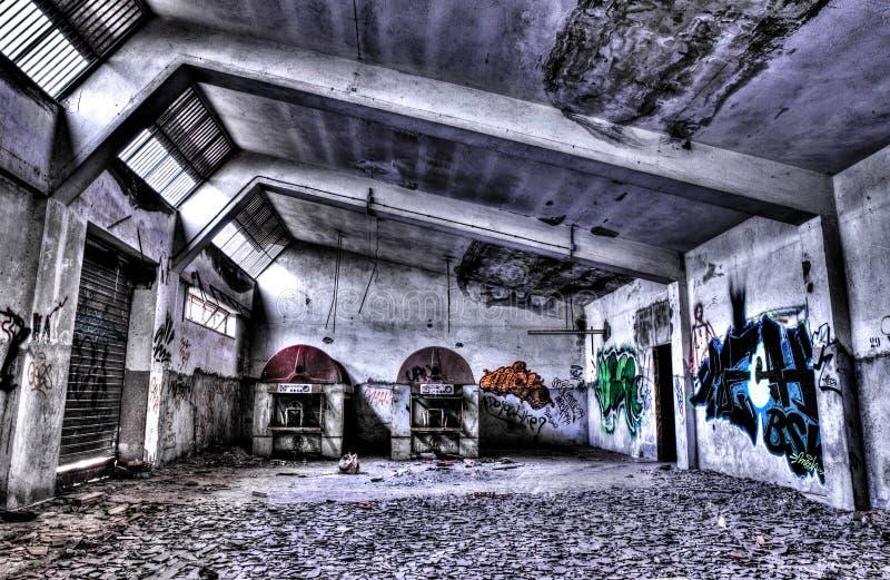 Eine alte Fabrik stockbild