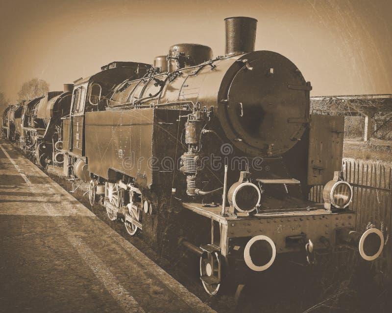 Eine alte Lokomotive lizenzfreies stockbild