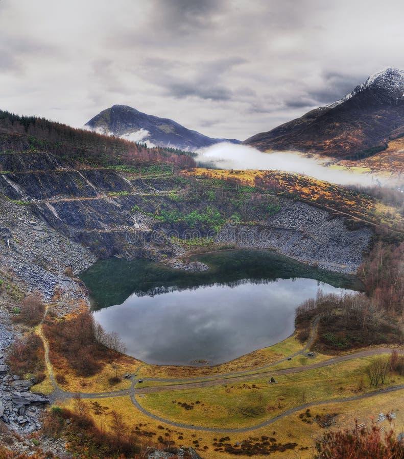 Eine alte Schiefergrube, Schottland lizenzfreie stockbilder