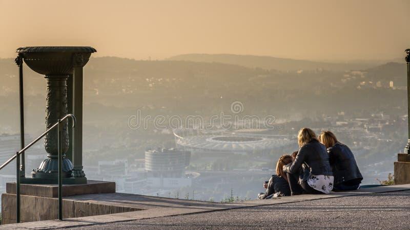 Eine andere Ansicht von Stuttgart lizenzfreie stockfotografie