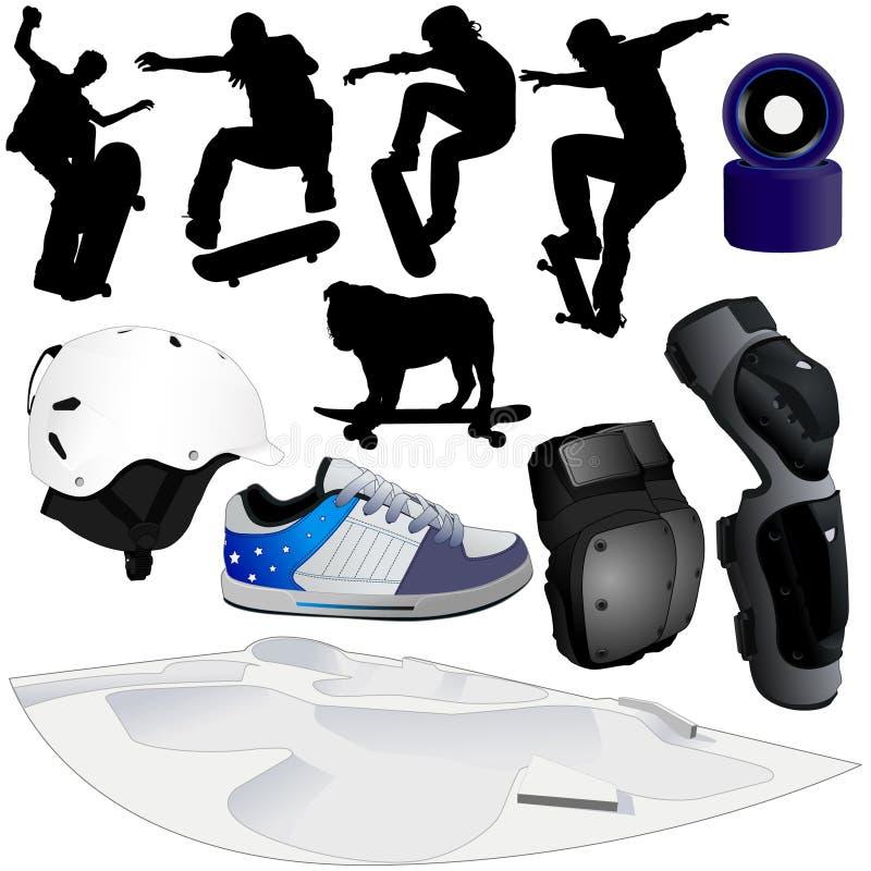 Eine Ansammlung Skateboarding Abbildungteils 2 lizenzfreie stockfotos