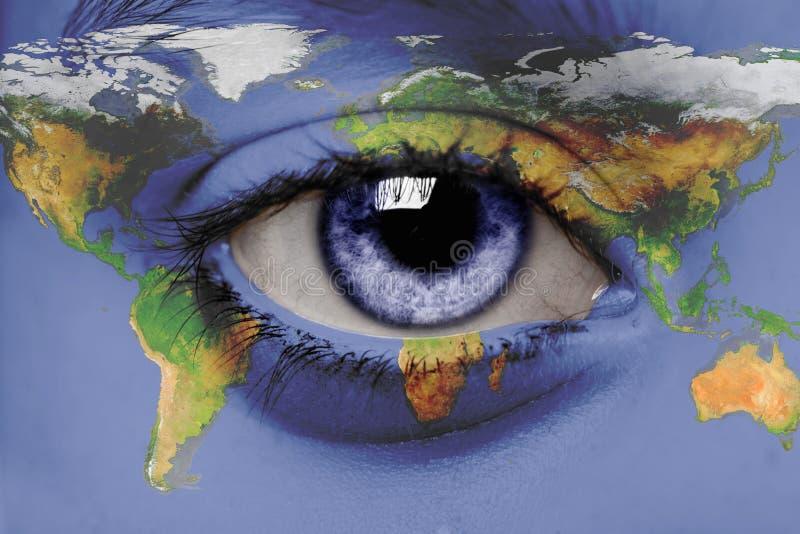 Eine Ansicht über die Welt stockbild