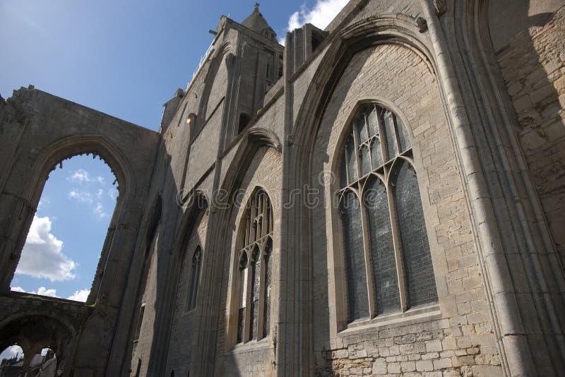 Eine Ansicht der Überreste von Crowland-Abtei, Lincolnshire, vereinigtes Ki lizenzfreie stockbilder