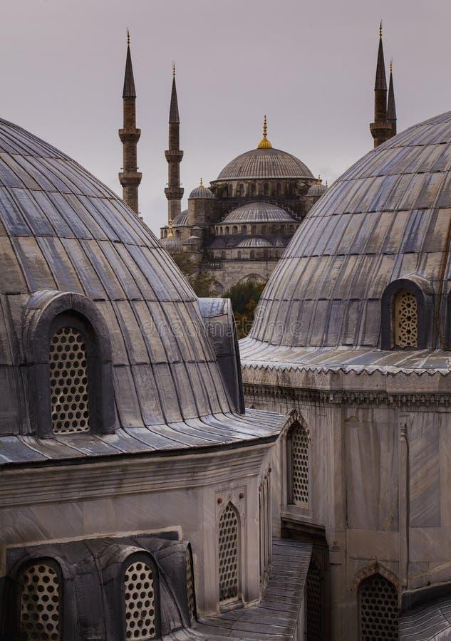 Eine Ansicht an der blauen Moschee stockfoto