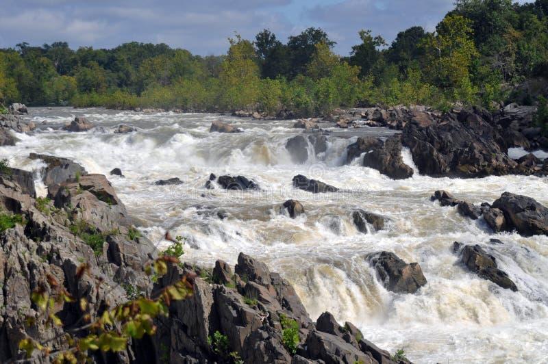 Eine Ansicht der Fälle an Great Falls-Park in Virginia lizenzfreie stockbilder