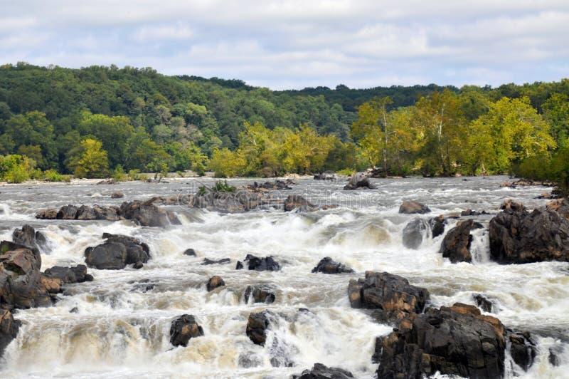 Eine Ansicht der Fälle an Great Falls-Park in Virginia stockfoto
