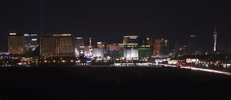 Eine Ansicht des Las Vegas-Streifens, der Nord schaut lizenzfreies stockbild