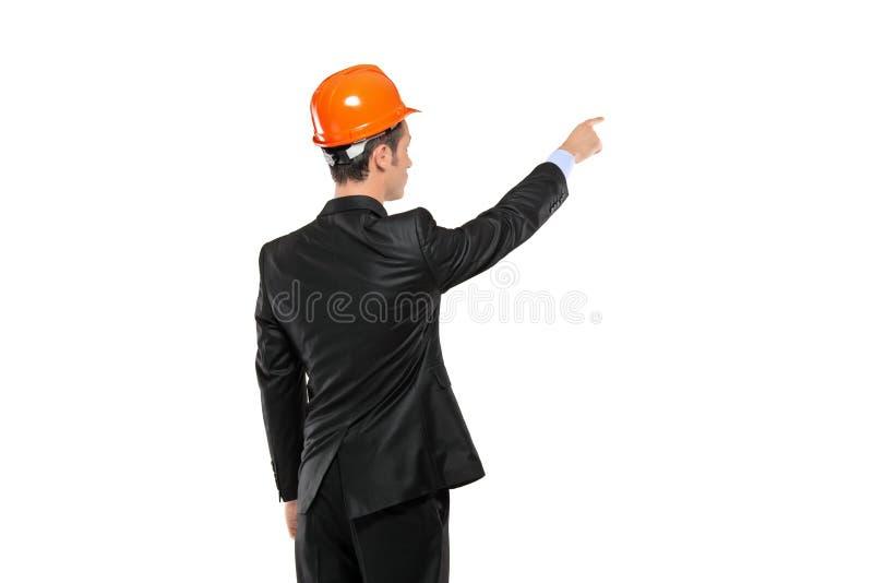Eine Ansicht eines Vorarbeiters in einem Klagezeigen stockfotografie
