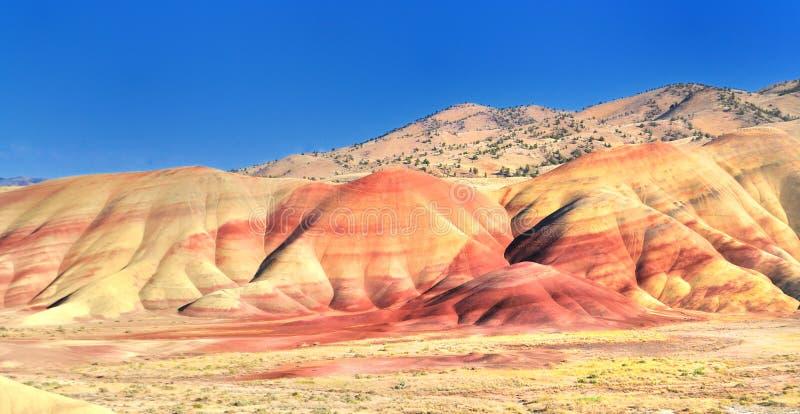 Eine Ansicht von den gemalten Hügeln übersehen stockbild
