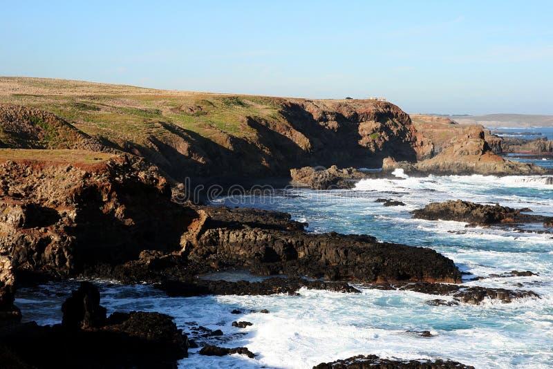Eine Ansicht von der Philip-Insel stockfoto