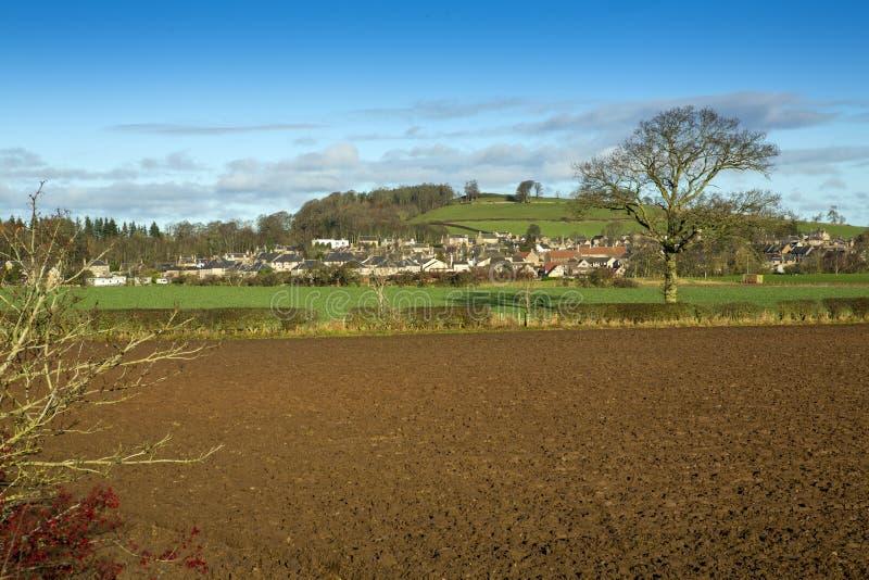 Eine Ansicht von Falben, Berwickshire, Schottland lizenzfreies stockbild