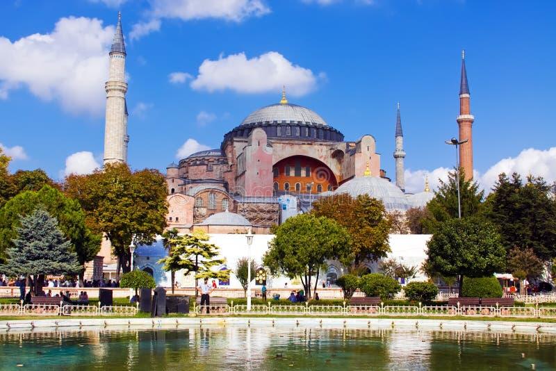 Eine Ansicht von Hagia Sophia in Istanbul lizenzfreie stockfotos