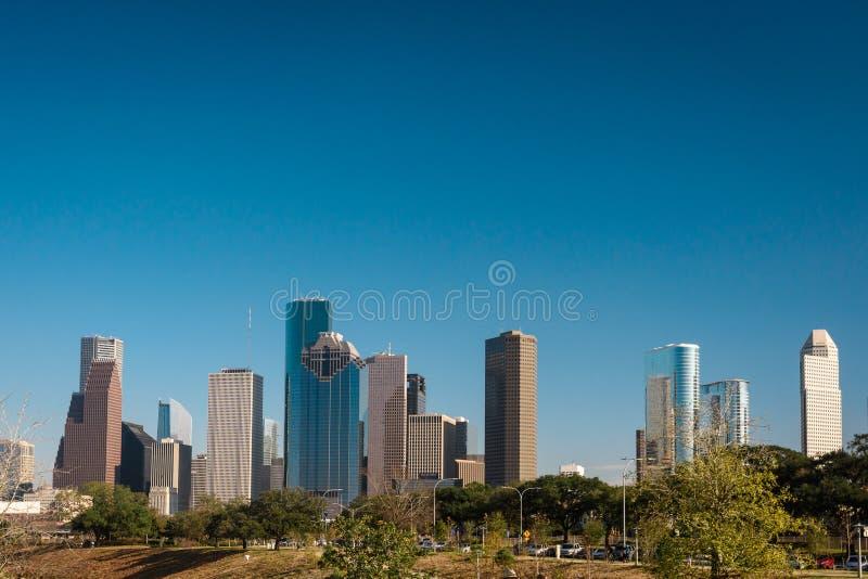 Eine Ansicht von im Stadtzentrum gelegenem Houston stockbilder