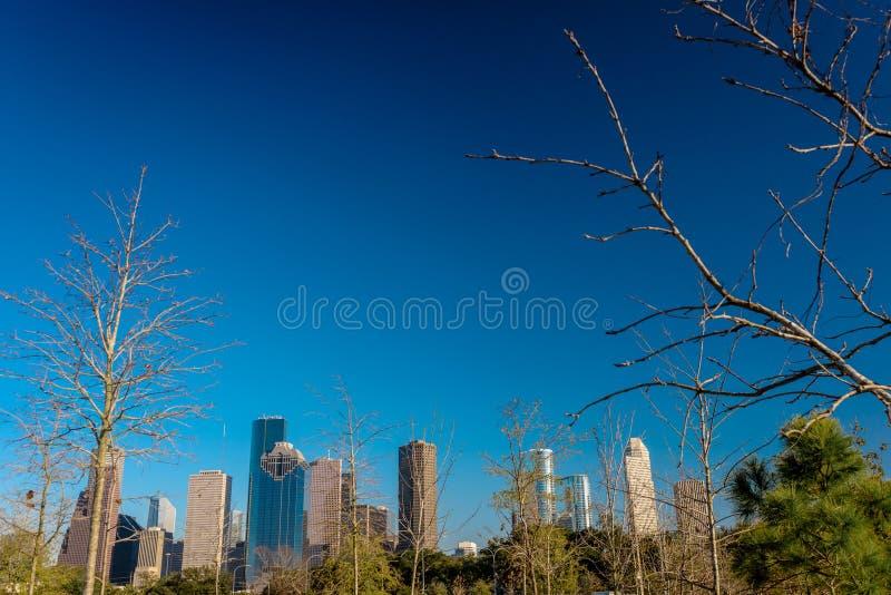 Eine Ansicht von im Stadtzentrum gelegenem Houston lizenzfreie stockbilder