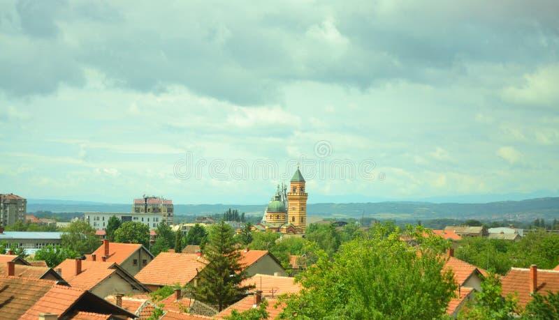 Eine Ansicht von Kragujevac Serbien lizenzfreie stockfotografie