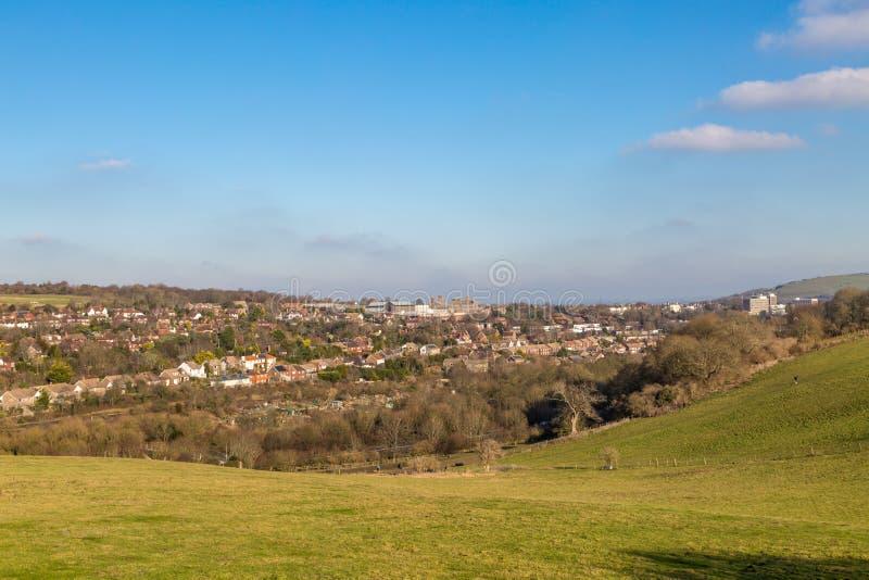 Eine Ansicht von Lewes stockfotos