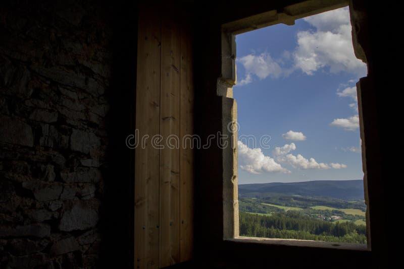 Eine Ansicht von Schloss Hrad Kasperk lizenzfreie stockfotos