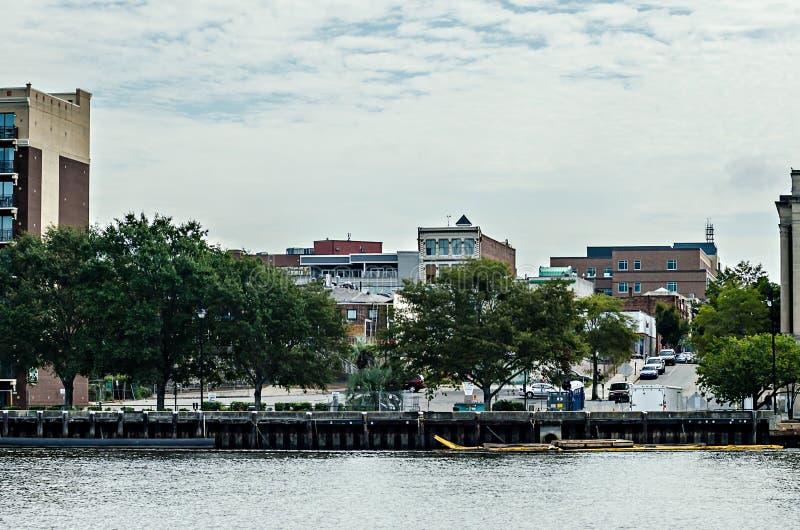 Eine Ansicht von Wilmington-North Carolina über von der Kap-Furcht Ri stockfoto