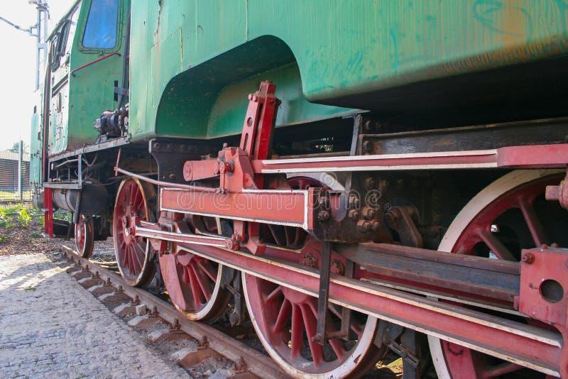 Eine antike Lokomotive stockbilder