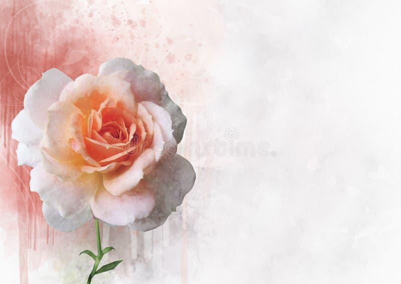 Eine Aquarellzeichnung einer vibrierenden rosafarbenen Blume Saftige botanische Platte - verlassen Sie Kaktus, Kaktusfeigekaktus  lizenzfreie abbildung