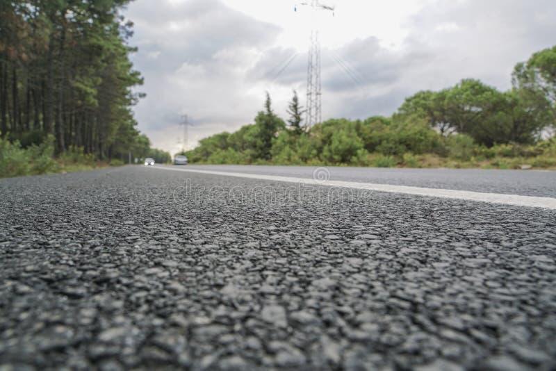 Eine Asphaltstraße stockfoto